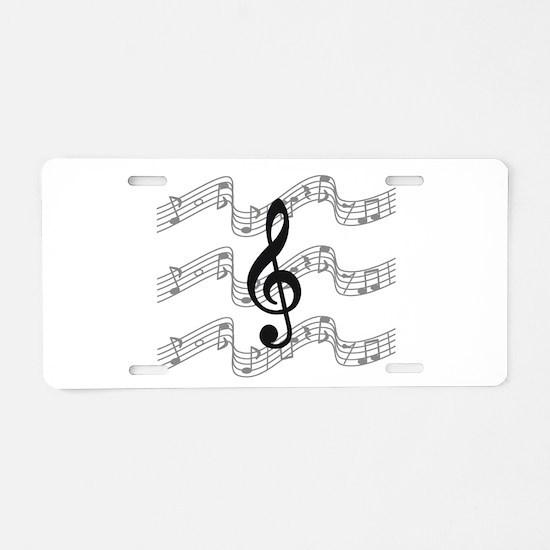 Cute Musician Aluminum License Plate