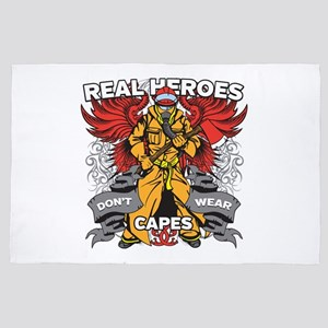 Real Heroes Firefighter 4' x 6' Rug