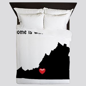 VIRGINIA Home is Where the Heart Is Queen Duvet
