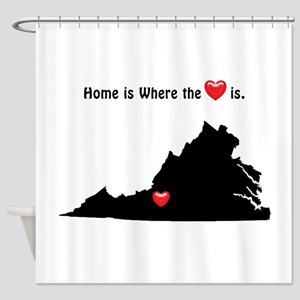 VIRGINIA Home is Where the Heart Is Shower Curtain