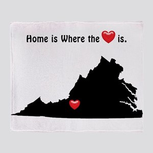 VIRGINIA Home is Where the Heart Is Throw Blanket