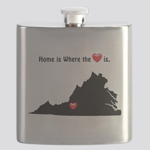 VIRGINIA Home is Where the Heart Is Flask
