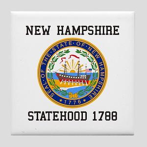 New Hampshire Statehood Tile Coaster