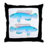 Blue Congo Cichlid Throw Pillow