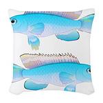 Blue Congo Cichlid Woven Throw Pillow