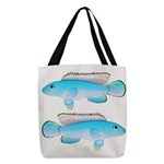 Blue Congo Cichlid Polyester Tote Bag