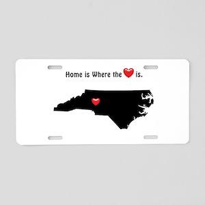 NORTH CAROLINA Home is Wher Aluminum License Plate