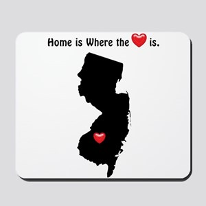 NEW JERSEY Home is Where the Heart Is Mousepad
