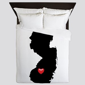 NEW JERSEY Home is Where the Heart Is Queen Duvet