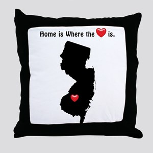NEW JERSEY Home is Where the Heart Is Throw Pillow
