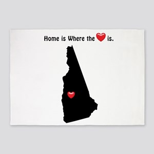 NEW HAMPSHIRE Home is Where the Hea 5'x7'Area Rug