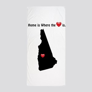 NEW HAMPSHIRE Home is Where the Heart Beach Towel