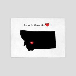 MONTANA Home is Where the Heart Is 5'x7'Area Rug
