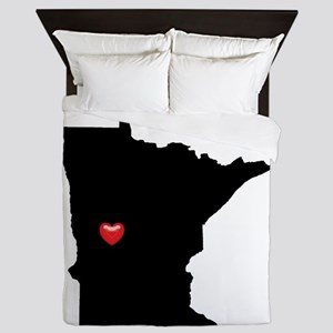 MINNESOTA Home is Where the Heart Is Queen Duvet