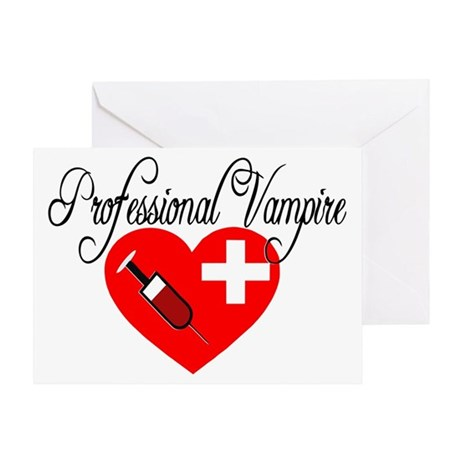 60th Anniversary Gifts >> Phlebotomist - Professional Vampire Greeting Card by listing-store-128298642