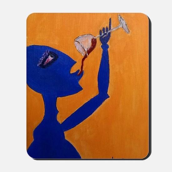 Blue Wino Mousepad