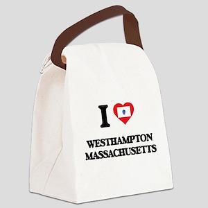 I love Westhampton Massachusetts Canvas Lunch Bag
