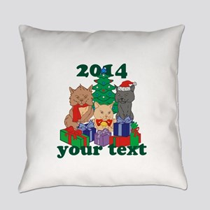 Personalized Christmas Cats Everyday Pillow