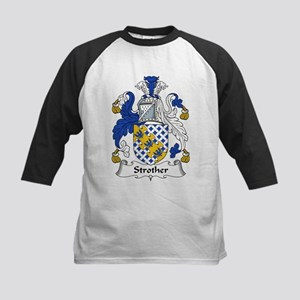 Strother Family Crest Kids Baseball Jersey