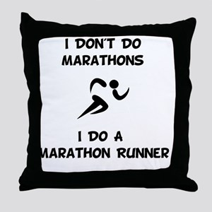 Do A Marathon Runner Throw Pillow