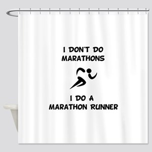 Do A Marathon Runner Shower Curtain