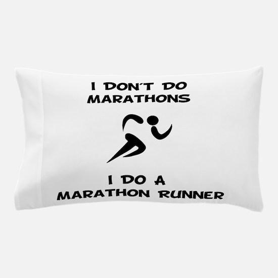 Do A Marathon Runner Pillow Case