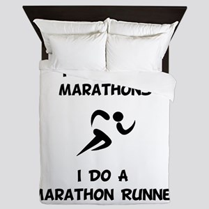 Do A Marathon Runner Queen Duvet