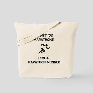 Do A Marathon Runner Tote Bag