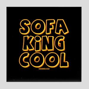 SofaKingCool Lg Button Tile Coaster