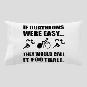 Duathlon Football Pillow Case