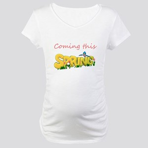 Coming this spring yellow Maternity T-Shirt
