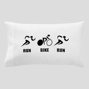 Duathlon Run Bike Run Pillow Case
