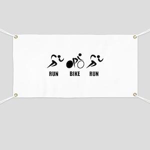 Duathlon Run Bike Run Banner