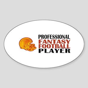 Fantasy Football Pro Oval Sticker