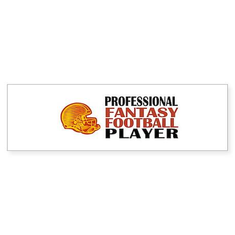 Fantasy Football Pro Bumper Sticker
