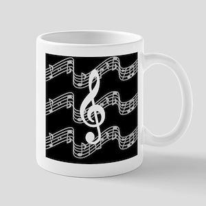 Music Staffs with Treble Clef Mug