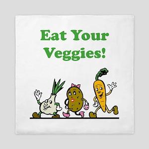 Eat Your Veggies Queen Duvet