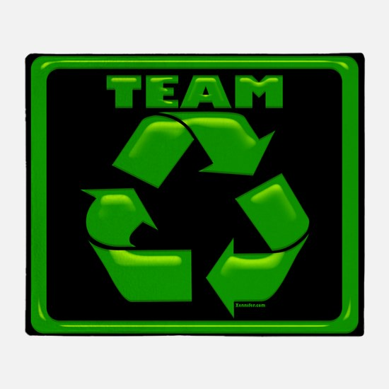 TeamRecycle Mousepad.png Throw Blanket
