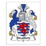 Stratford Family Crest Small Poster