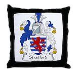 Stratford Family Crest Throw Pillow