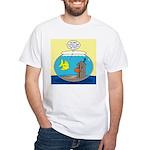 Fishbowl Outhouse Aerator White T-Shirt