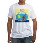 Fishbowl Outhouse Aerator Fitted T-Shirt