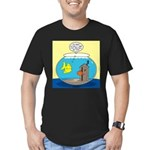 Fishbowl Outhouse Aera Men's Fitted T-Shirt (dark)