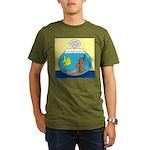 Fishbowl Outhouse Aer Organic Men's T-Shirt (dark)