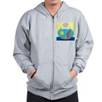 Fishbowl Outhouse Aerator Zip Hoodie