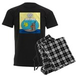 Fishbowl Outhouse Aerator Men's Dark Pajamas