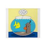 Fishbowl Outhouse Aerator Throw Blanket