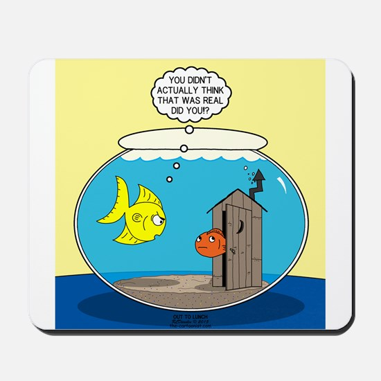 Fishbowl Outhouse Aerator Mousepad