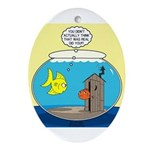 Fishbowl Outhouse Aerator Ornament (Oval)