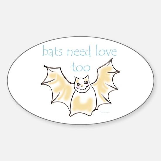 bats need love too! Oval Decal